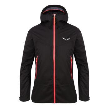 Salewa PUEZ CLASTIC 2 PTX 2L W JKT, ženska pohodna jakna, črna