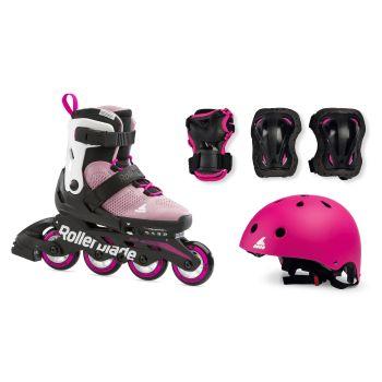 Rollerblade CUBE G SET, otroški rolerji, roza
