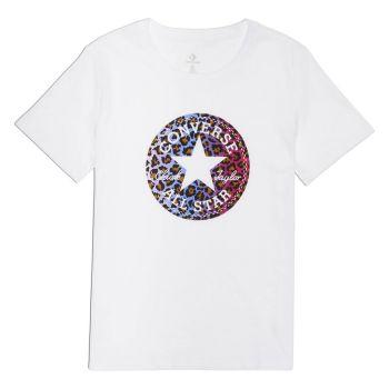 Converse LEOPARD INFILL CHUCK PATCH TEE, ženska majica, bela