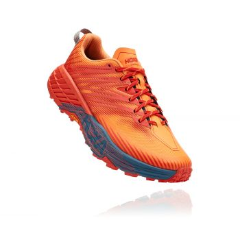 Hoka One One SPEEDGOAT 4, moški trail tekaški copati, oranžna