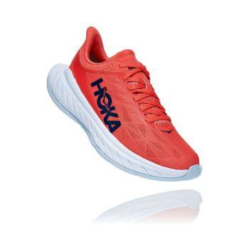Hoka One One CARBON X 2 W, ženski tekaški copati, rdeča