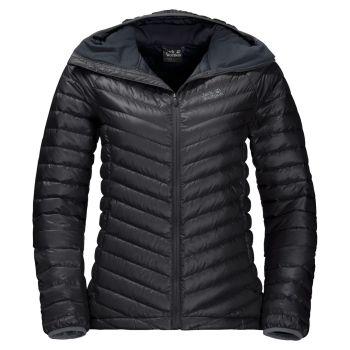 Jack Wolfskin ATMOSPHERE JKT W, ženska pohodna jakna, črna