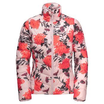 Jack Wolfskin HELIUM HIGH PRINT, ženska pohodna jakna, rdeča