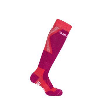 Salomon S/MAX JR 1/1, otroške smučarske nogavice, rdeča