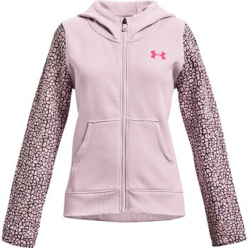 Under Armour RIVAL FLEECE FZ, pulover o.fit, roza