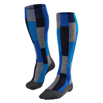 Falke SK4 BRICK, moške smučarske nogavice, modra