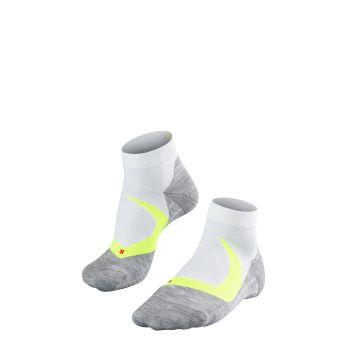 Falke RU4 COOL SHORT, moške tekaške nogavice, bela