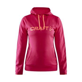 Craft LOGO HOOD W, pulover, roza