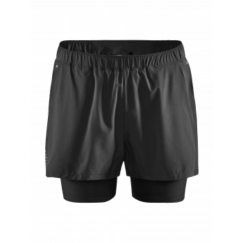 Craft ADV ESSENCE 2IN1 STRECH SHORTS M, moške fitnes hlače, črna