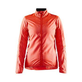 Craft ESSENCE LIGHT WIND JKT W, ženska kolesarska jakna, oranžna