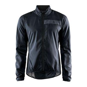 Craft ESSENCE LIGHT WIND JKT M, moška kolesarska jakna, črna
