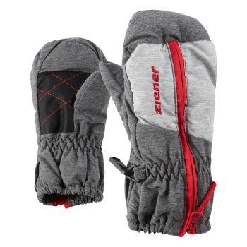 Ziener LUANO MINIS, otroške smučarske rokavice, siva