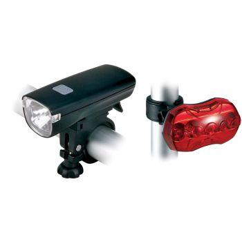 Cytec 1HP LED, set kolesarskih svetil, črna