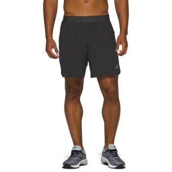 Asics ROAD 2-N-1 7IN SHORT, moške kratke tekaške hlače, črna