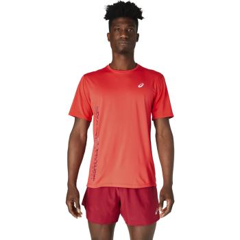 Asics RUN SS TOP, moška tekaška majica, rdeča