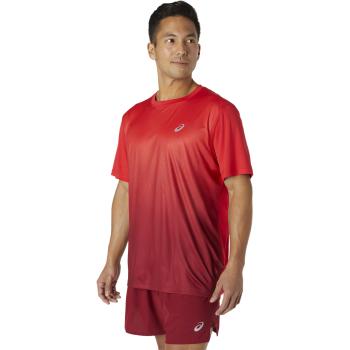 Asics KASANE SS TOP, moška tekaška majica, rdeča