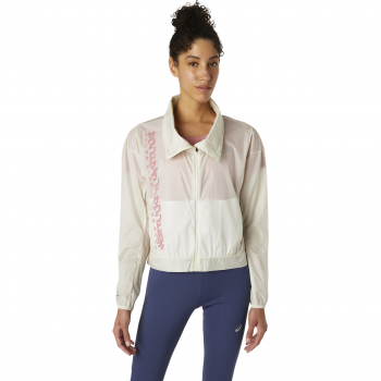 Asics RUN JACKET, ženska tekaška jakna, bela