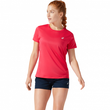 Asics CORE SS TOP, ženska tekaška majica, rdeča
