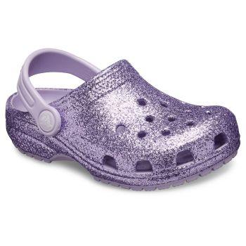 Crocs CLASSIC GLITTER CLOG KIDS, natikači, vijolična
