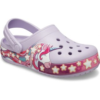 Crocs FUN LAB UNICORN BAND CLOG KIDS, natikači, roza