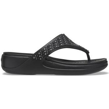 Crocs MONTEREY SHIMMER WEDGE FLIP W, japonke, črna