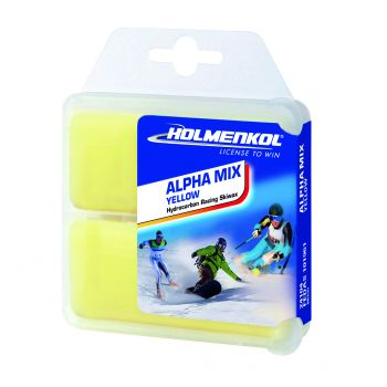 Holmenkol ALPHAMIX YELLOW, vosek za smuči, rumena