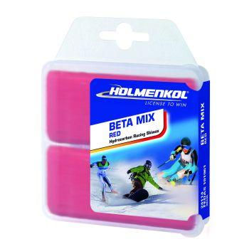 Holmenkol BETAMIX RED, vosek za smuči, rdeča