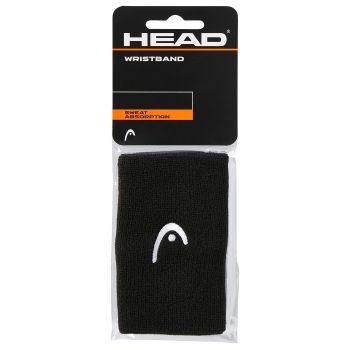 Head WRISTBAND 5, teniški znojnik, črna