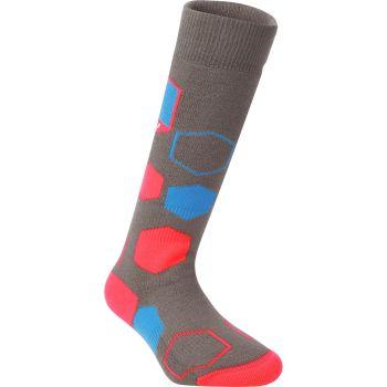 McKinley SOCKY II JRS, otroške smučarske nogavice, siva