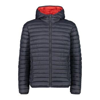 CMP MAN JACKET FIX HOOD, moška pohodna jakna, siva