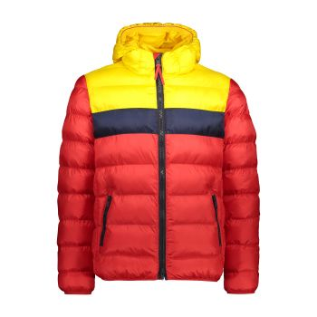 CMP MAN JACKET FIX HOOD, moška jakna, rdeča