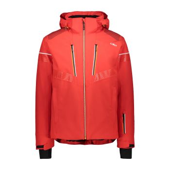 CMP MAN JACKET ZIP HOOD, moška smučarska jakna, rdeča