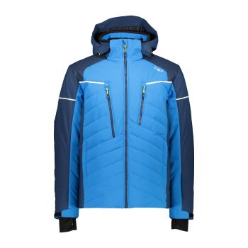 CMP MAN JACKET ZIP HOOD, moška smučarska jakna, modra