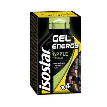 Isostar FRUIT ENERGY GEL APPLE 4X35G, športna prehrana, večbarvno