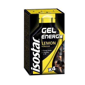 Isostar FRUIT ENERGY GEL LEMON 4X35G, športna prehrana, večbarvno