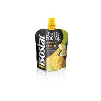 Isostar FRUIT ENERGY GEL EXOTIC 90G, športna prehrana, večbarvno