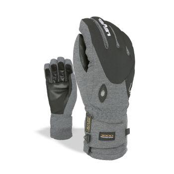 Level ALPINE, moške smučarske rokavice, siva