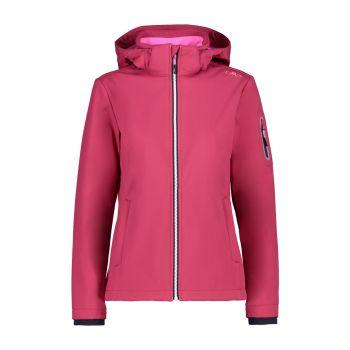 CMP WOMAN ZIP HOOD JACKET, ženska pohodna jakna, roza