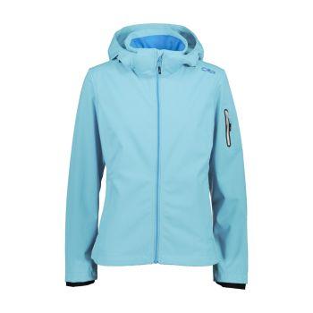 CMP WOMAN ZIP HOOD JACKET, ženska pohodna jakna, modra