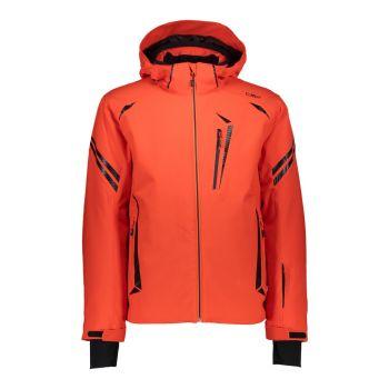 CMP MAN JACKET ZIP HOOD, moška smučarska jakna, oranžna