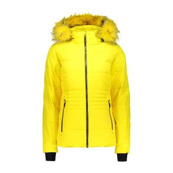CMP WOMAN JACKET ZIP HOOD, ženska smučarska jakna, rumena
