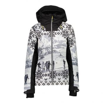CMP WOMAN JACKET FIX HOOD, ženska smučarska jakna, črna