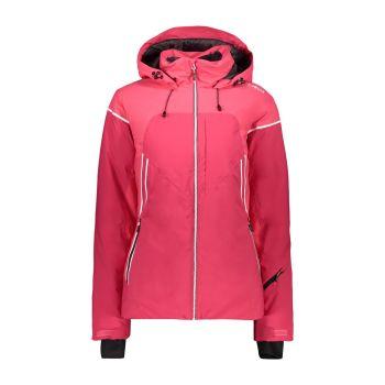 CMP WOMAN JACKET FIX HOOD, ženska smučarska jakna, roza