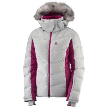 Salomon ICETOWN JKT W, ženska smučarska jakna, bela