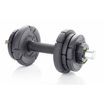 Energetics PREMIUM 10KG CAST IRON SET (30MM), set palic za uteži, črna