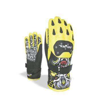 Level JUNIOR, otroške smučarske rokavice, rumena