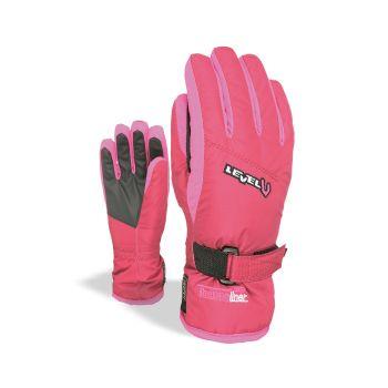 Level JUNIOR, otroške smučarske rokavice, vijolična
