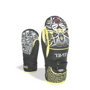Level JUNIOR MITT, otroške smučarske rokavice, rumena