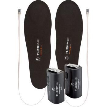 Thermic SET HEAT FLAT+C-PACK 1300, vložek za smučarske čevlje, črna