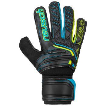Reusch ATTRAKT SD, moške nogometne rokavice, črna